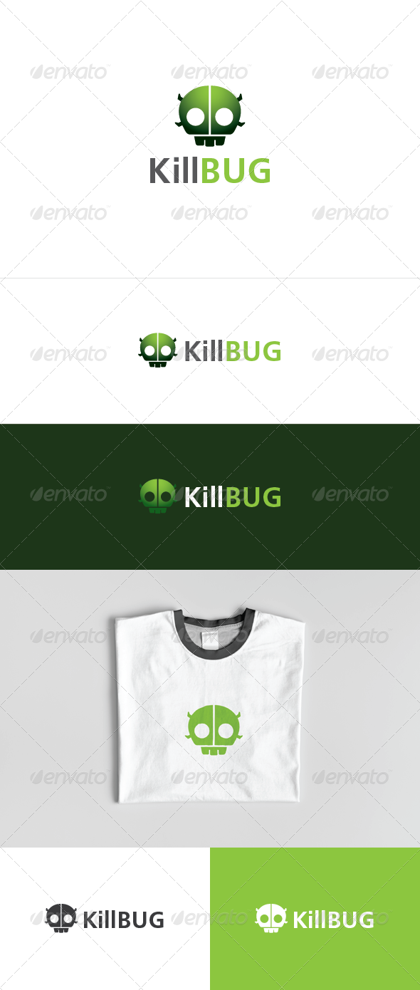 Kill The Bug Logo - Animals Logo Templates