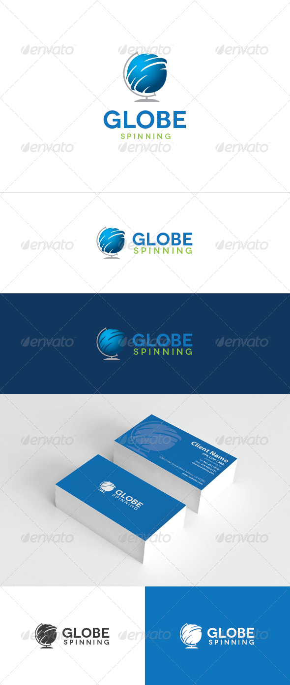 Globe Spinning Logo Template - Objects Logo Templates