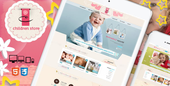 ThemeForest Children Store Responsive Ecommerce HTML5 Theme 6508415
