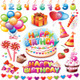 Happy Birthday Set - GraphicRiver Item for Sale