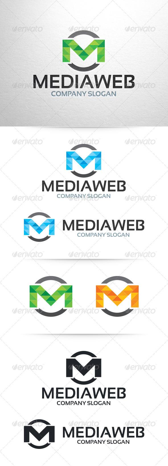GraphicRiver Media Web Letter M Logo Template 6513481