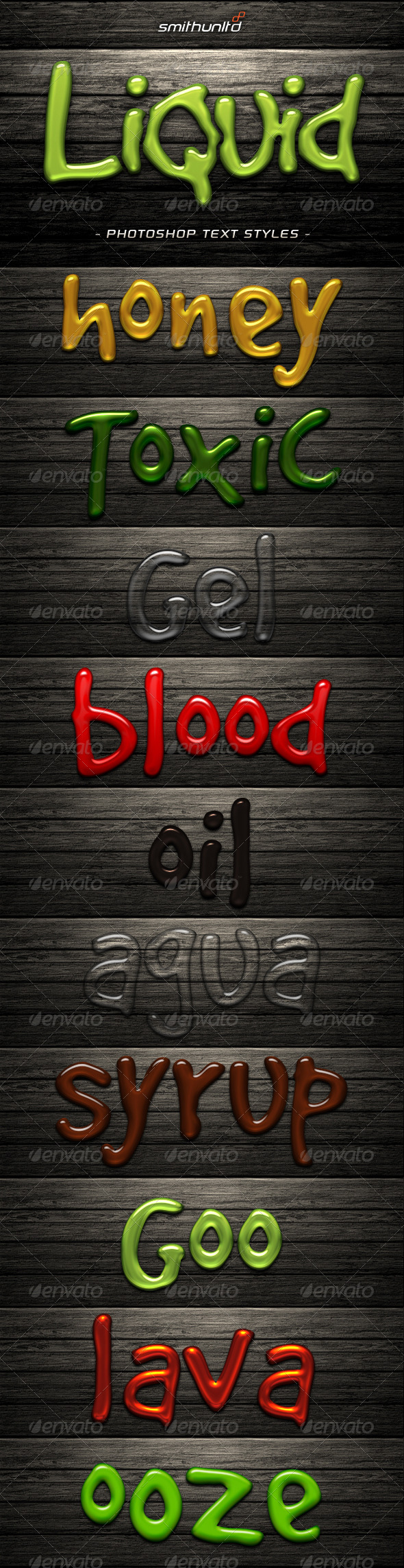 GraphicRiver Liquid Text Styles 6514083