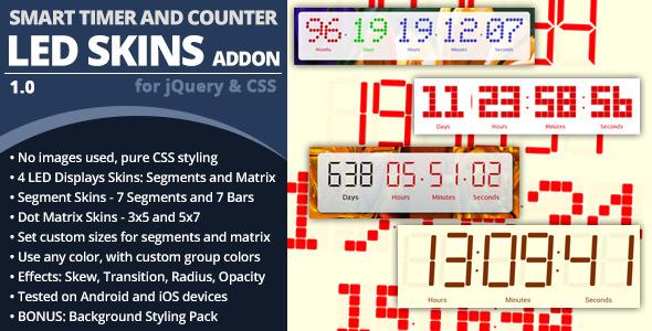 CodeCanyon Smart Timer And Counter LED Skins Addon 6514261