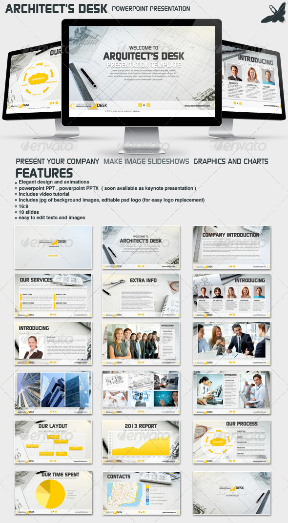 GraphicRiver Architects Desk Presentation 6514347