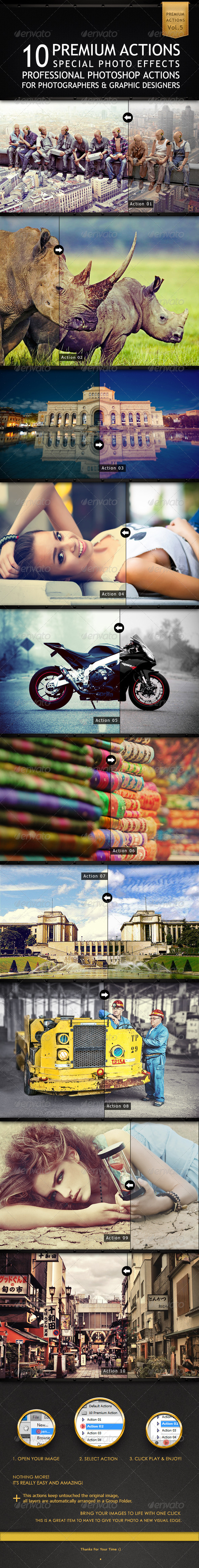 GraphicRiver 10 Premium Actions 6514406