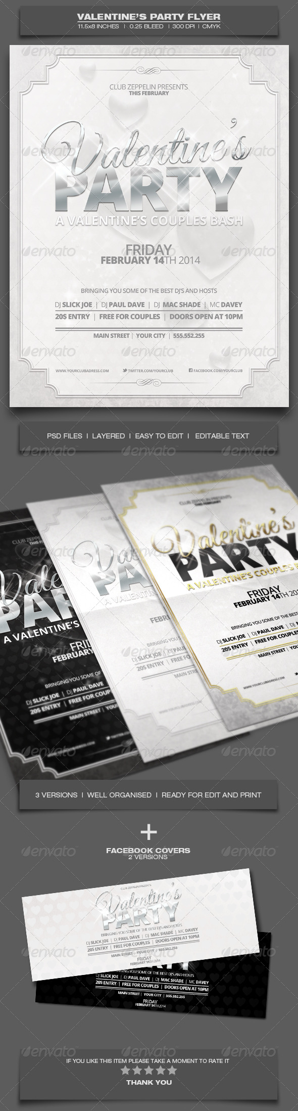 GraphicRiver Valentine s Day Party Event Flyer Template 4 6514523