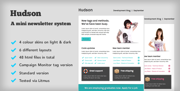 Hudson Email template - ThemeForest