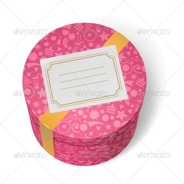 GraphicRiver Pink Decorated Birthday Gifts Box with Yellow Ribbon 6515315
