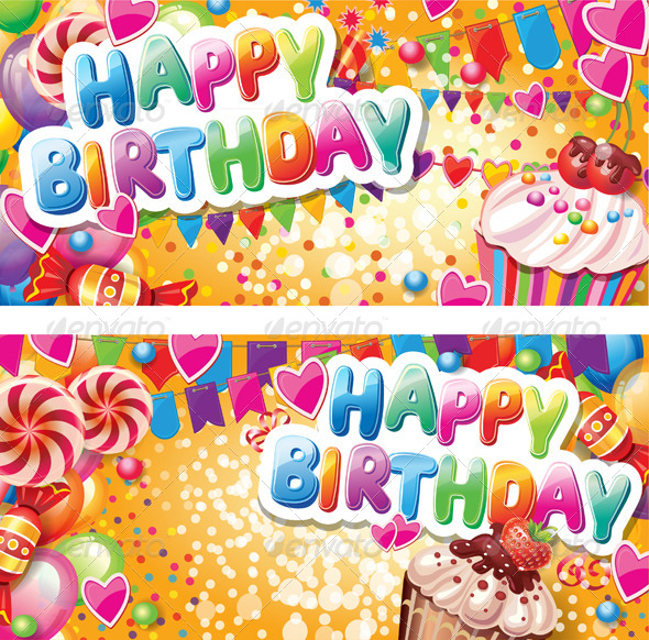 GraphicRiver Happy Birthday Vertical Cards 6515658