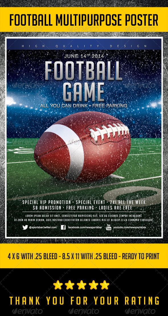GraphicRiver Flyer Football Template V.1 6515707