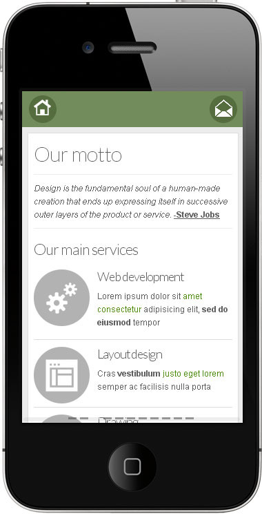 Go Mobile - ��green services pages example