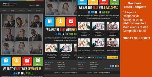 ThemeForest Responsive Business Email Template 6516195