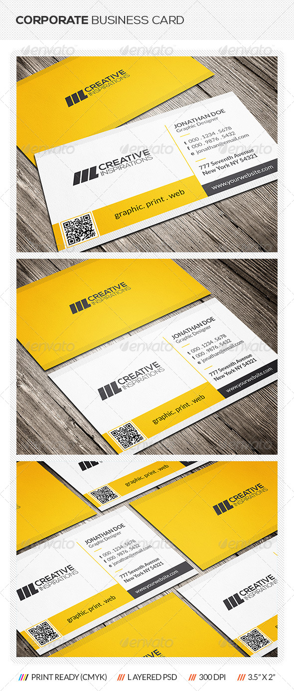 GraphicRiver Modern Corporate Business Card 6516744