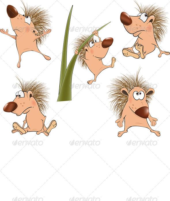 GraphicRiver Small Hedgehogs 6516796