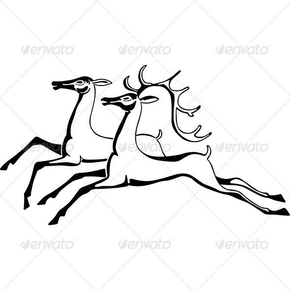 GraphicRiver Running Deers 6516934