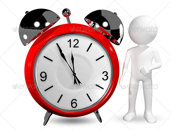 GraphicRiver Man with an Alarm Clock 6517367