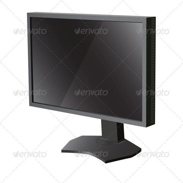 GraphicRiver Black LCD Television Monitor 6517468