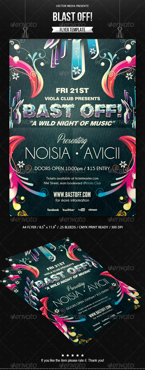 GraphicRiver Blast Off Flyer 6517571