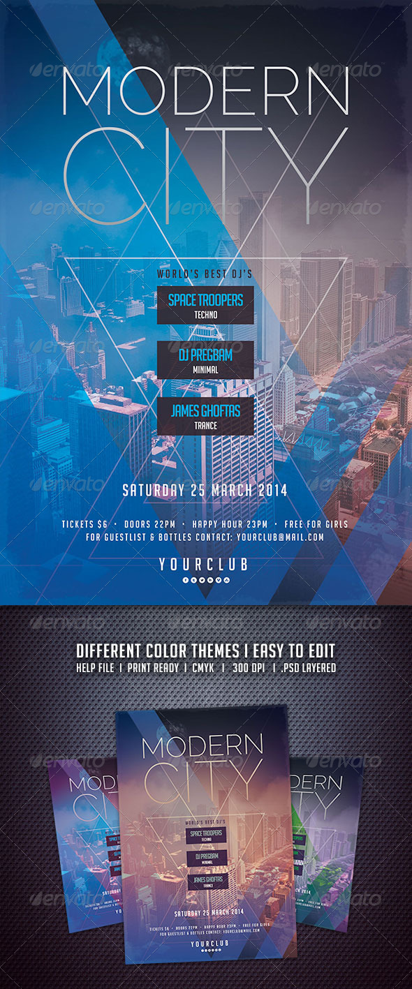 GraphicRiver Modern City Flyer 6517604