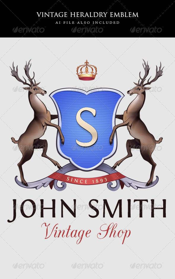 GraphicRiver Vintage Heraldry Emblem Template 6517891