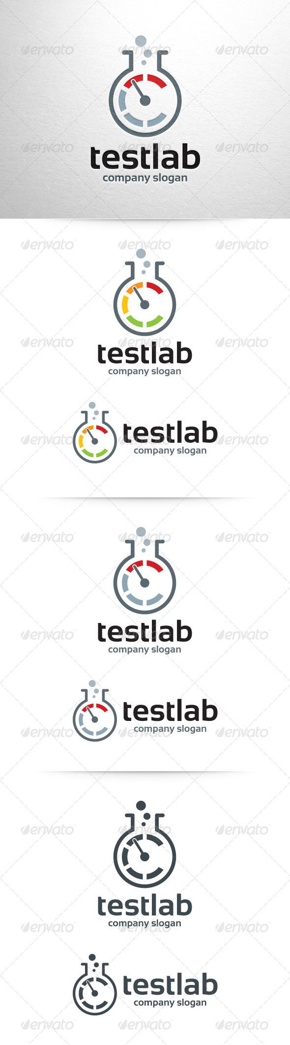GraphicRiver Test Lab Logo Template 6518782