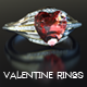 Valentine Heart Ruby Rings - GraphicRiver Item for Sale