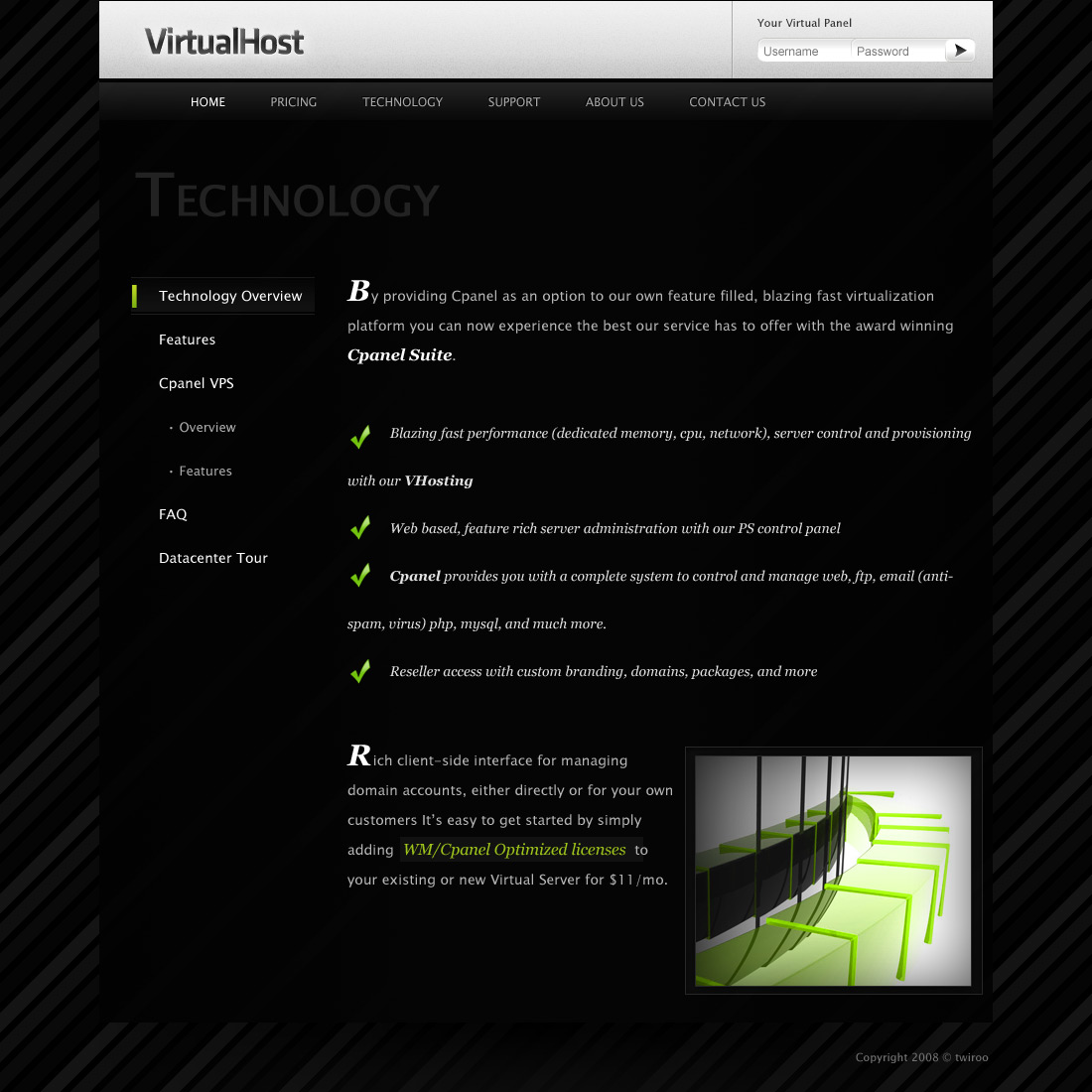 VirtualHost - Premium Hosting PSD Template