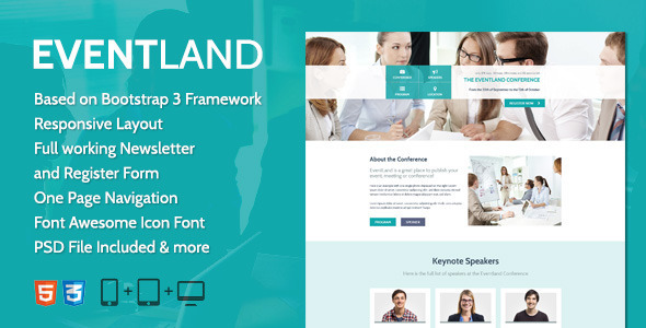 ThemeForest EventLand Landingpage 6519113