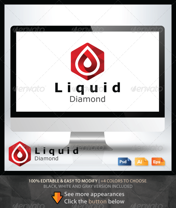 GraphicRiver Liquid Diamond Logo 6519268