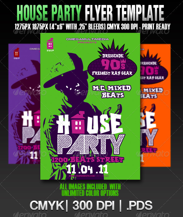 The House Party Template - Clubs & Parties Events