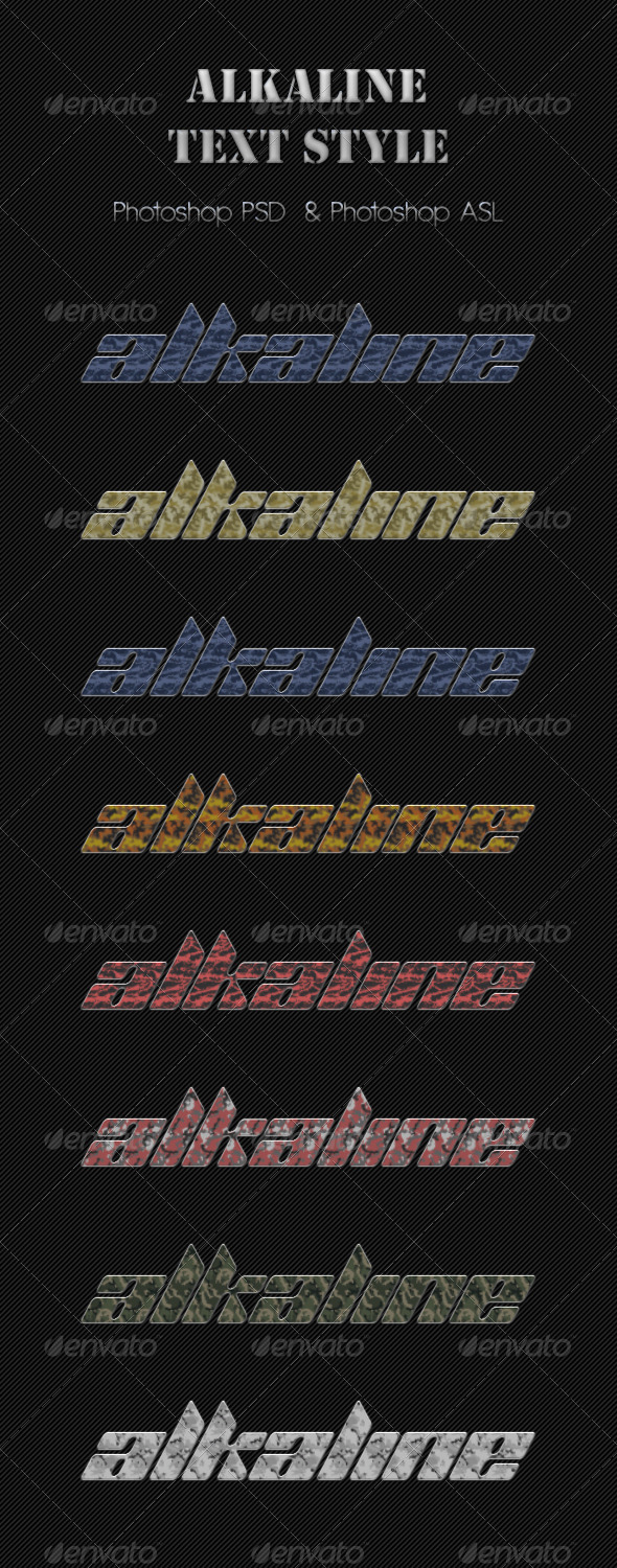 GraphicRiver 8 Alkaline Text Style 6519521