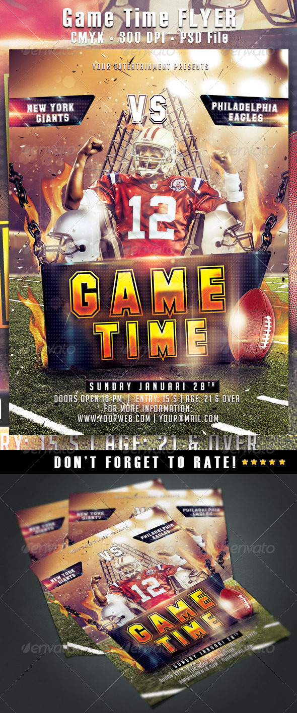 GraphicRiver Game Time Flyer 6519555