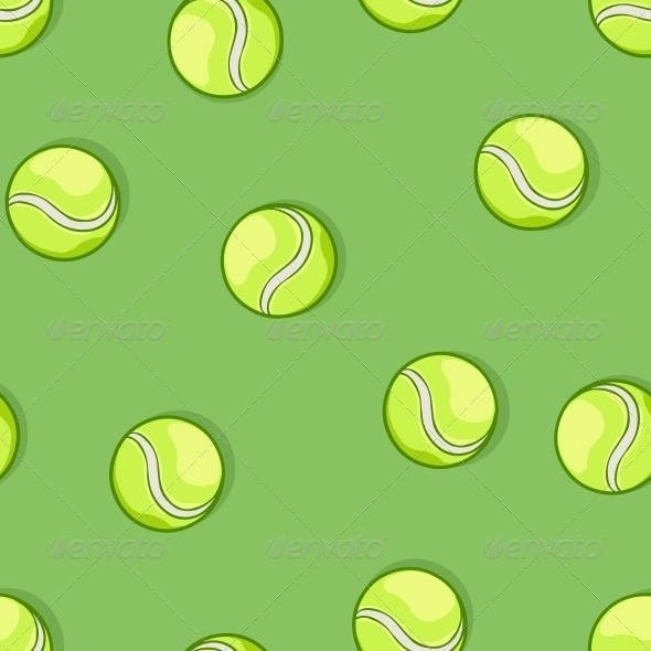 GraphicRiver Seamless Pattern of Tennis Balls 6519593