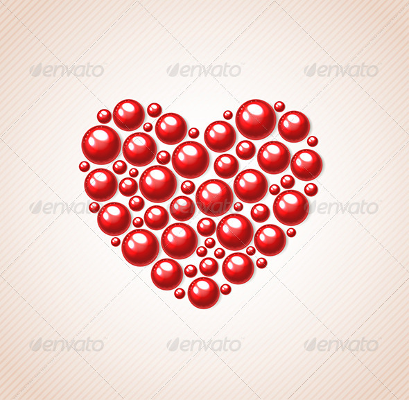 GraphicRiver Red Heart of Bead 6519657