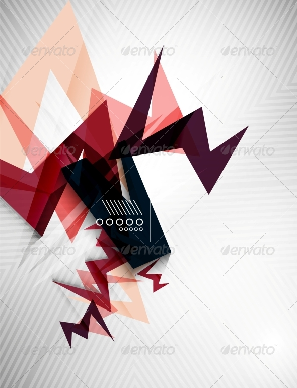 GraphicRiver Geometric Lightning Business Background 6520576