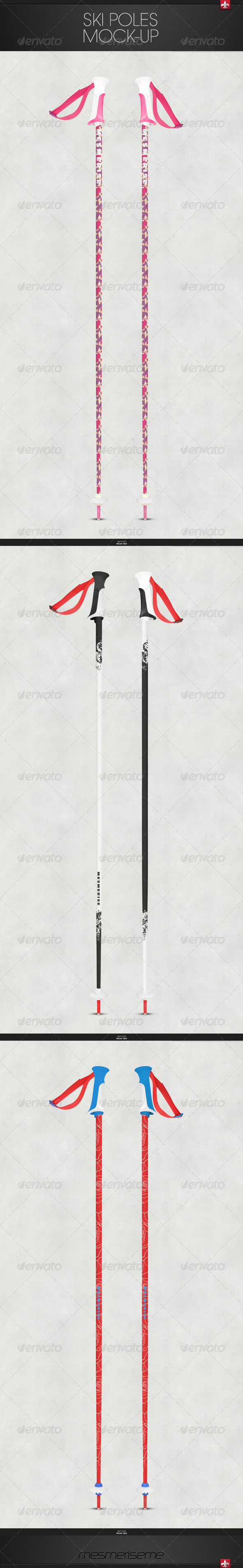 GraphicRiver Ski Poles Mock-up 6521491