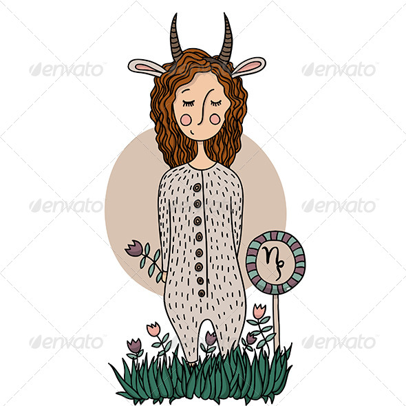 GraphicRiver Capricorn Girl 6522580