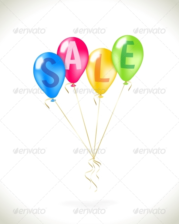 GraphicRiver Flying Balloons with Sale Promotion 6522608