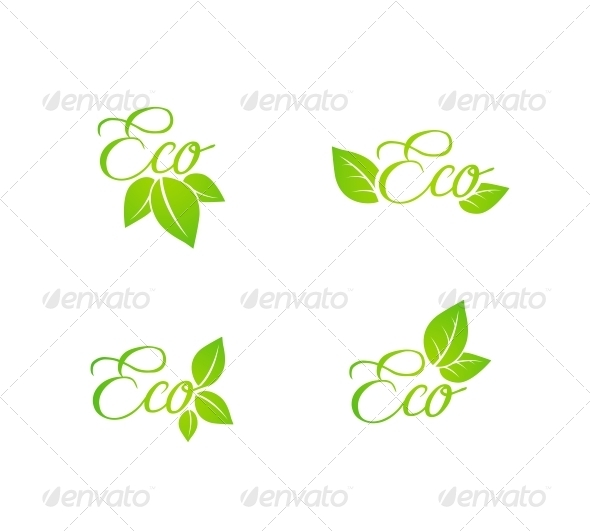 GraphicRiver Set of Green Leaf Eco Concept Icons 6522616