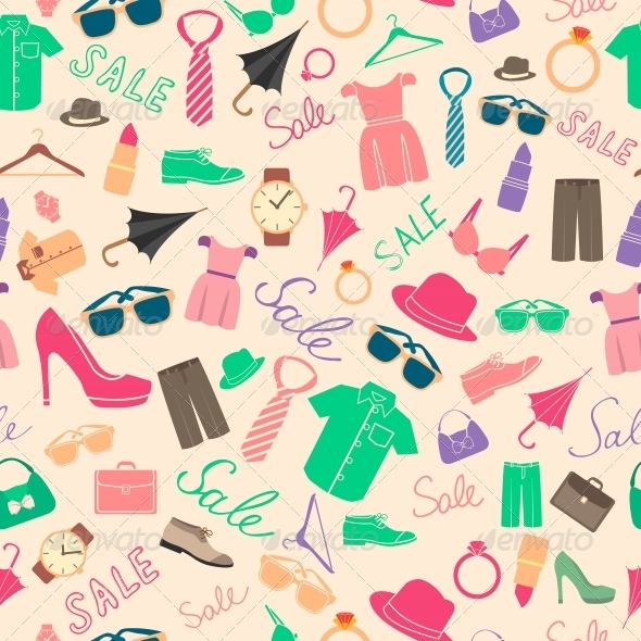 GraphicRiver Fashion and Clothes Accessories Seamless Pattern 6522670