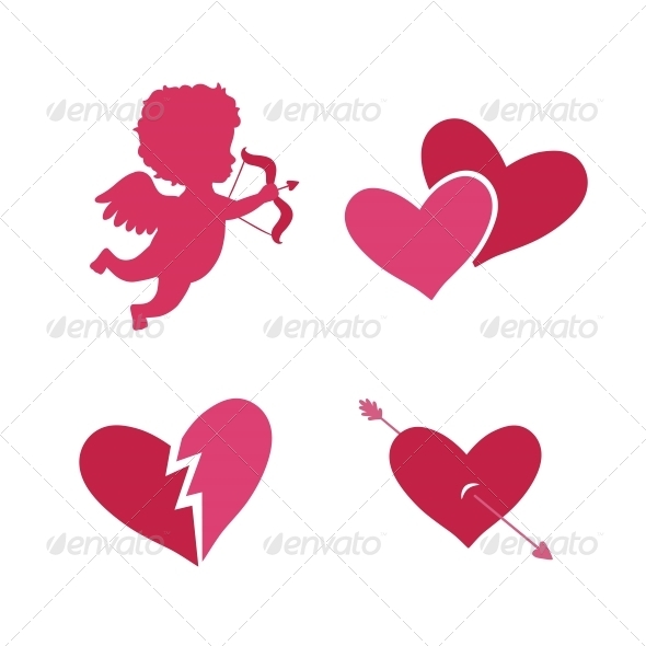 GraphicRiver Set of Cupid Icons 6522976