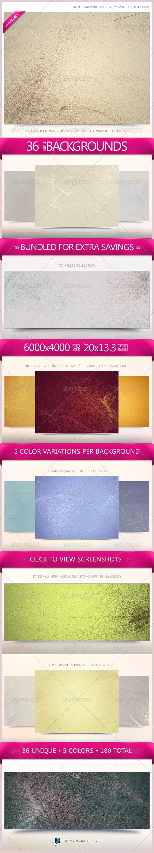 GraphicRiver Noise Backgrounds Bundle 6523027