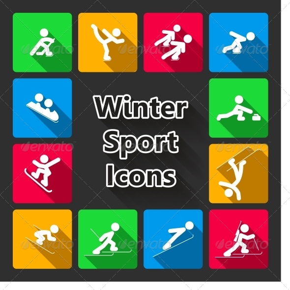GraphicRiver Winter Sports Iconset 6523091