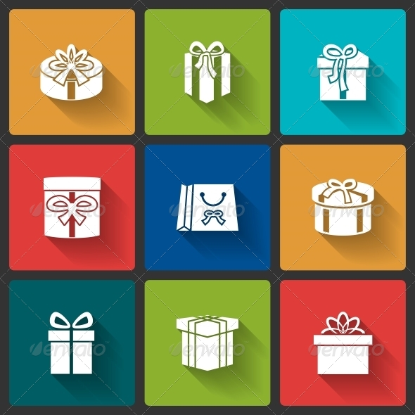 GraphicRiver Gift Boxes Icons 6523112