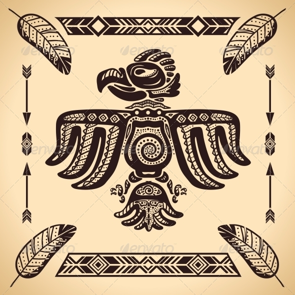 GraphicRiver Tribal American Eagle Sign 6523189