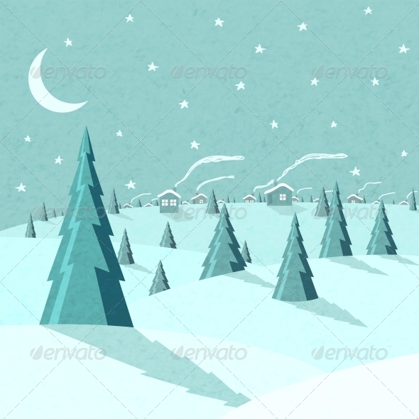 GraphicRiver Winter Landscape 6523196
