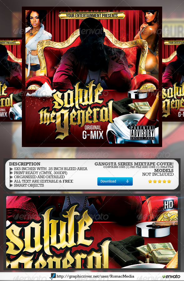 GraphicRiver Salute the General CD Cover 6523419