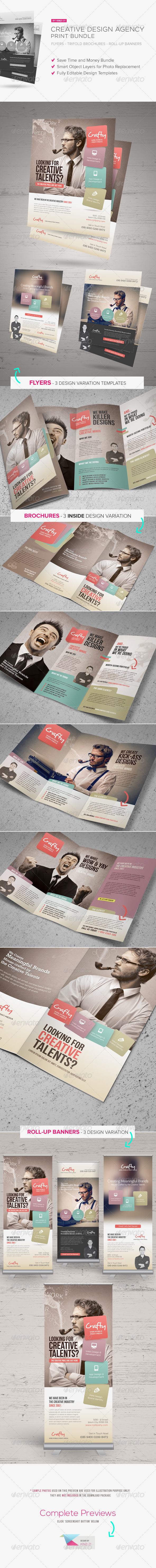 GraphicRiver Creative Design Agency Print Bundle 6523575