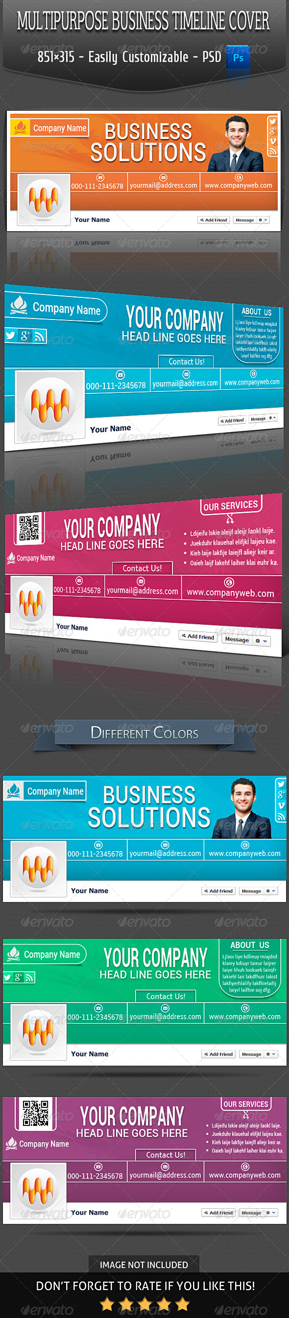 GraphicRiver Multipurpose Business Timeline Cover V-3 6523672
