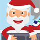 Santa on the Roof - GraphicRiver Item for Sale